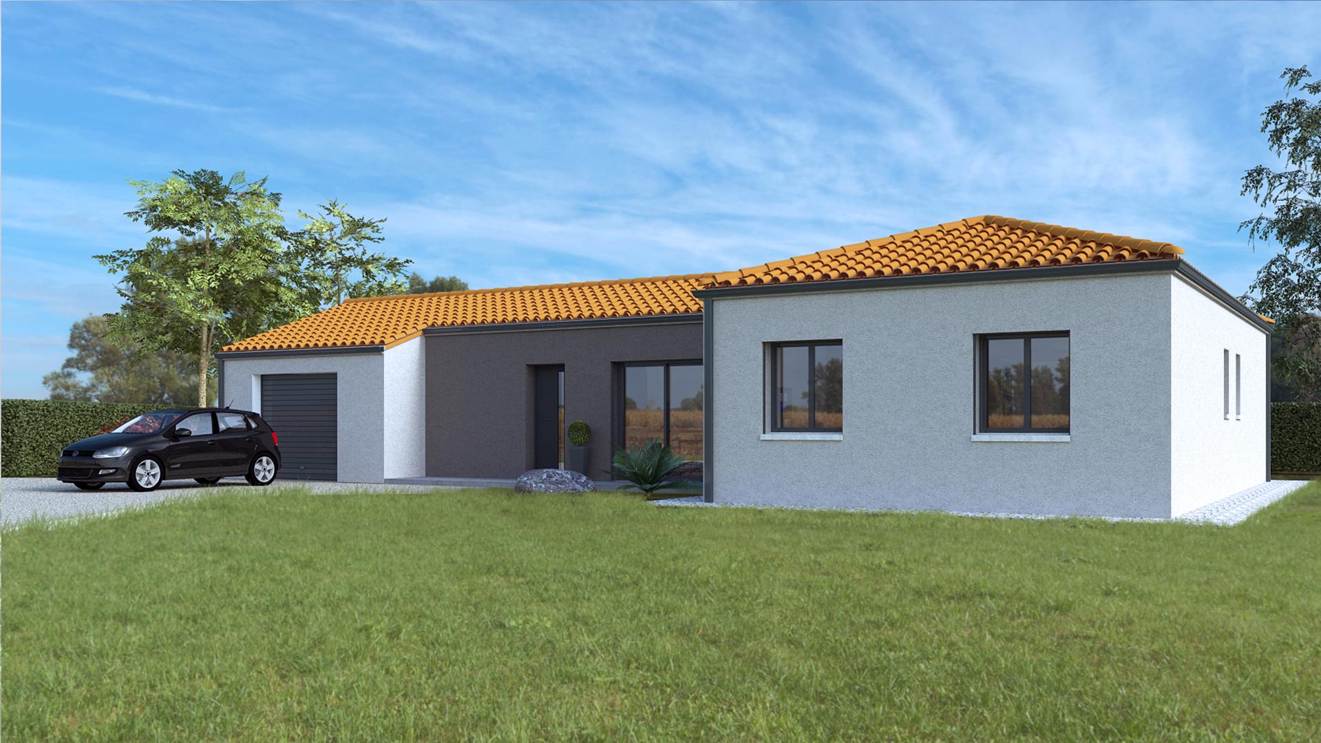 Porche D Entrée Maison Contemporaine maison moderne – 95m2 – urva habitat
